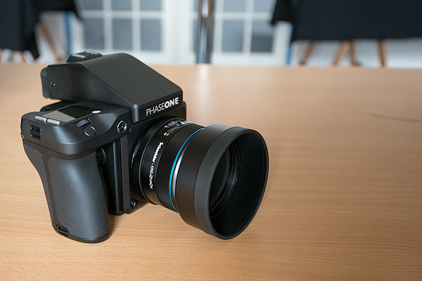 Right out of the box - our new Phase One XF camera with an 80 megapixel back and Schneider Kreuznach 80 mm lens