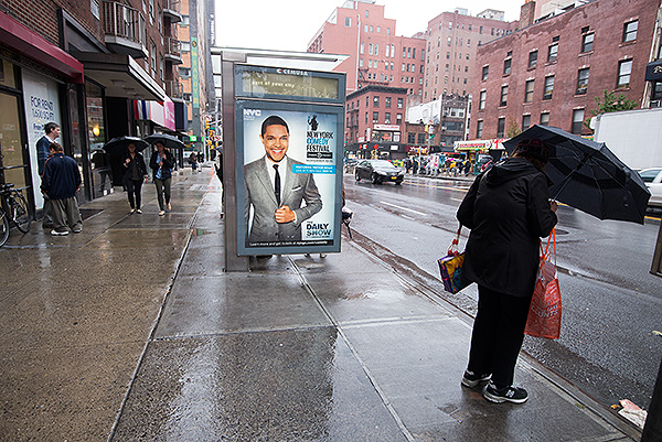 Nice to see a familiar face! Trevor Noah was plastered on bus stops and at tube stations - clearly a hit in the US.