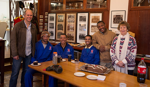 Timothy Zuma and I with Kingswood College Archivist, Shirley Fletcher and her team of assistants at a tea Shirley organized for us to say thank you on the last day of capture
