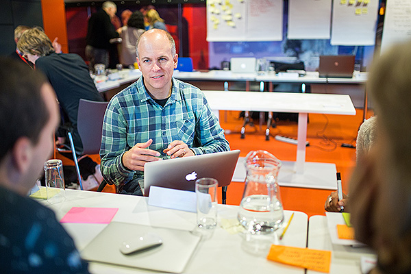 David Larsen, Managing Director of Africa Media Online participating in The Winterschool for Digital Archiving 2017 run by The Netherlands Institute of Sound and Vision. The School was held in the fabulous mulitcoloured glass structure of Beeld en Geluid, The Netherlands Institute for Sound and Vision. Every day the Institute digitally archives all of The Netherland's public television and radio stations as well as a number of private stations. In the bowels of the building over 10 Petabytes of data are stored on LTO6 tape which is backed up to a similar facility in another building about a mile away.