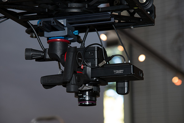 Africa Media Online's Alpa 12 FPS camera with a Rodenstock HR Digaron-S 60 mm f/4 lens and our Phase One IQ3 100 megapixel camera suspended above a Dereck Nxumalo painting at the NSA Gallery in Durban, KwaZulu-Natal, South Africa.