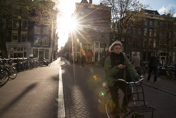 Amsterdam by bicycle. Biking is the best way to see Amsterdam. My Air BnB had a spare bike and I took the most of the opportunity to see the city.