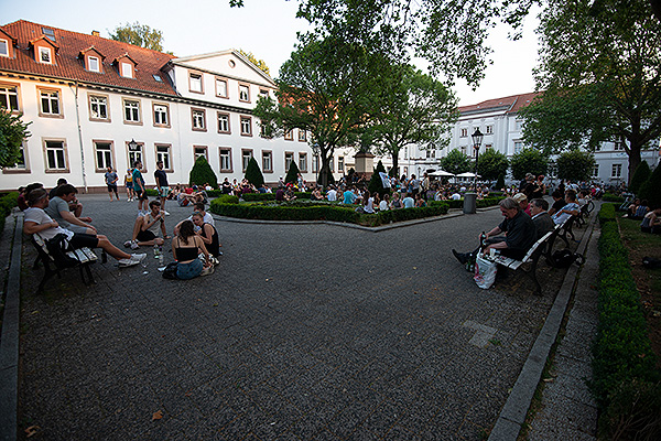 The central square at the University of Göttingen.