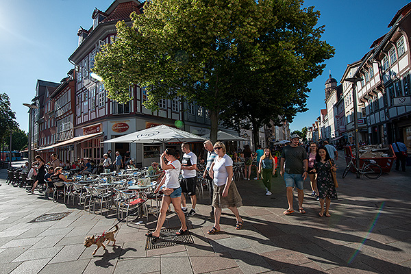 The picturesque university town of Göttingen in Lower Saxony, Germany.