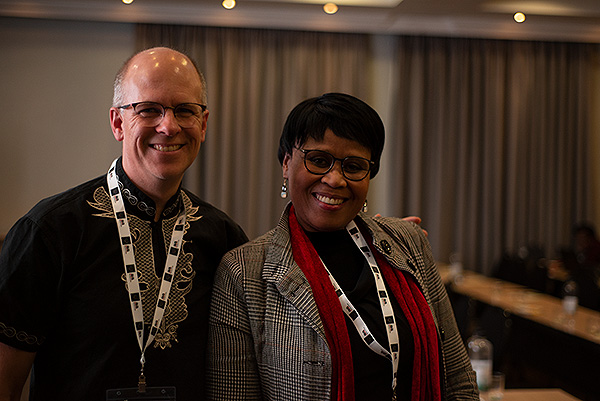David Larsen of Africa Media Online and Nikiwe Momoti former Head Archivist at Western Cape Archives and Chairperson of the South African Society of Archivists (SASA) at the end of a day-long workshop on digital archiving conducted as part of the SASA national conference 2019. Together with members of the Africa Media Online team, David will be teaching a comprehensive two-day masterclass on Digital Archiving at HDC 2019